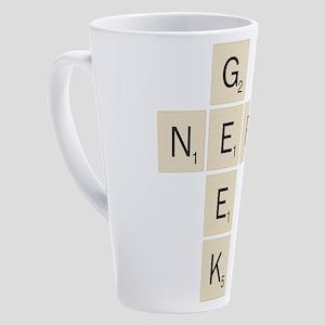 Scrabble Geek Nerd 17 oz Latte Mug