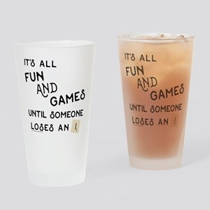 Scrabble Fun and Games Drinking Glass