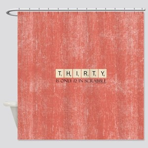 Scrabble Thirty Only 12 Shower Curtain