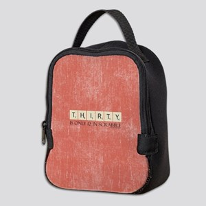 Scrabble Thirty Only 12 Neoprene Lunch Bag
