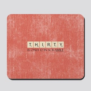 Scrabble Thirty Only 12 Mousepad