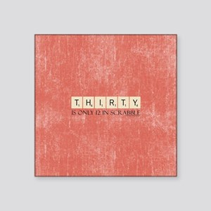 """Scrabble Thirty Only 12 Square Sticker 3"""" x 3"""""""