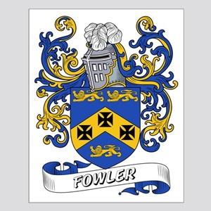 Fowler Coat of Arms Small Poster