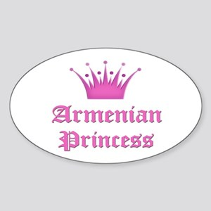 Armenian Princess Oval Sticker