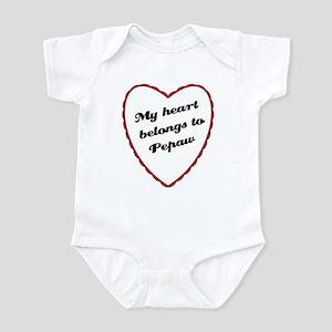 My Heart Belongs to Pepaw Baby Creeper