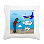 Zombie SCUBA Square Canvas Pillow