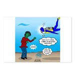 Zombie SCUBA Postcards (Package of 8)