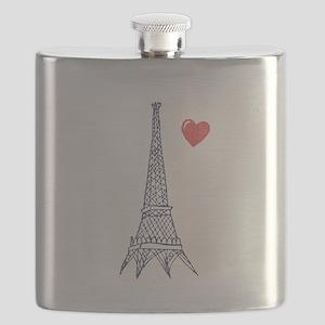 Love in Paris Flask