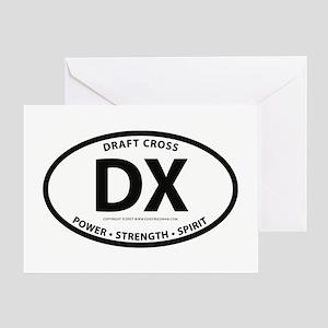 "Draft Cross ""DH"" Greeting Card"