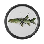 Kafue African pike Large Wall Clock