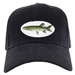 Kafue African Pike Baseball Black Cap With Patch