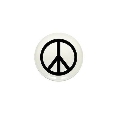 """Peace Sign 1"""" pin"""