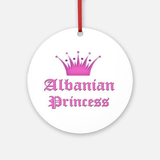 Albanian Princess Ornament (Round)