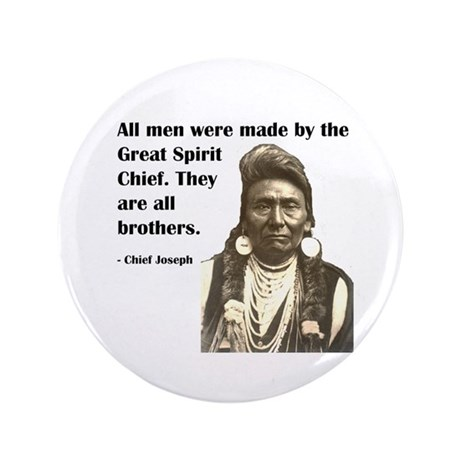 "Brotherhood Quote 3.5"" Button"