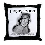 Fanny Bush Cricket Fan Throw Pillow