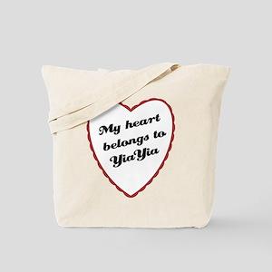 My Heart Belongs to YiaYia Tote Bag