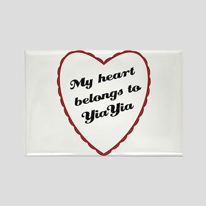 My Heart Belongs to YiaYia Rectangle Magnet