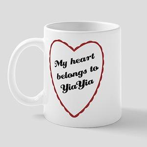 My Heart Belongs to YiaYia Mug