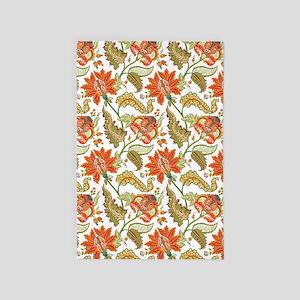 Indian Vintage Floral Pattern 4' X 6' Rug