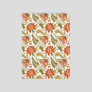 Indian Vintage Floral Pattern 5'x7'area Ru