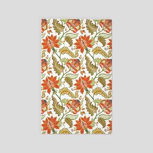 Indian Vintage Floral Pattern Area Rug