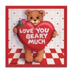 Love You Beary Much Tile Coaster