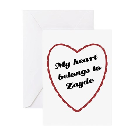 My Heart Belongs to Zayde Greeting Card