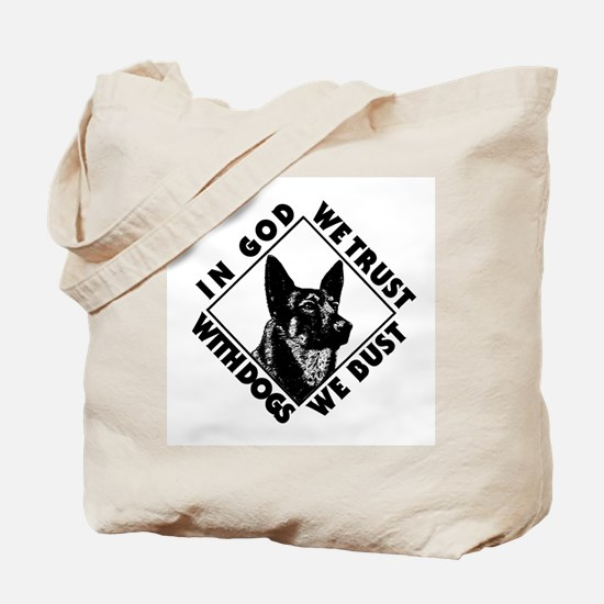 K9 Dogs Bust Tote Bag