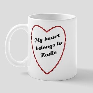 My Heart Belongs to Zadie Mug