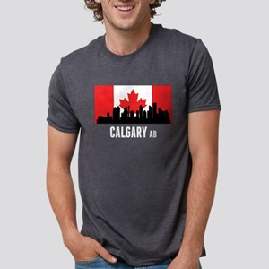 Calgary AB Canadian Flag T-Shirt