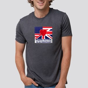 Married to an American Ash Grey T-Shirt