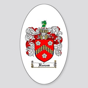 Reeves Family Crest Oval Sticker