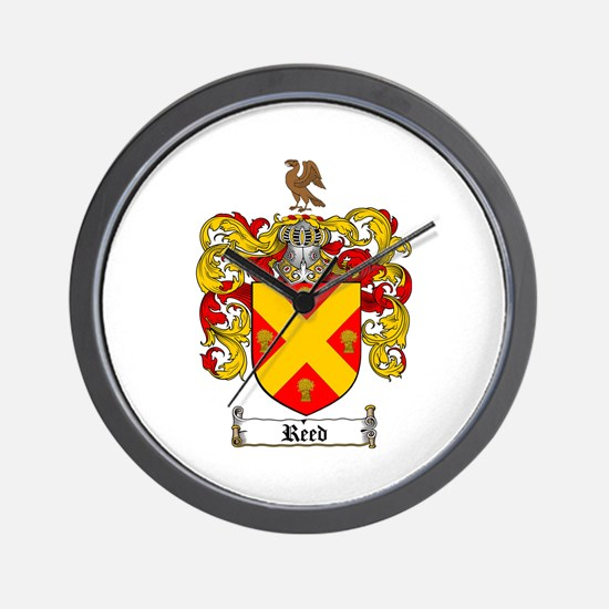 Reed Family Crest Wall Clock