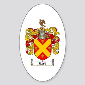 Reed Family Crest Oval Sticker