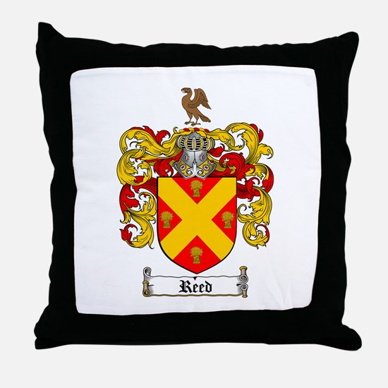 Reed Family Crest Throw Pillow