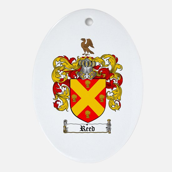 Reed Family Crest Oval Ornament