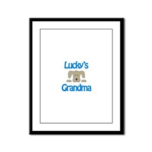 Lucky's Grandma Framed Panel Print