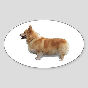 Corgi Oval Sticker