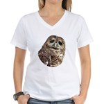 Northern Spotted Owl Women's V-Neck T-Shirt