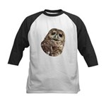 Northern Spotted Owl Kids Baseball Jersey