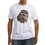 Northern Spotted Owl Fitted T-Shirt