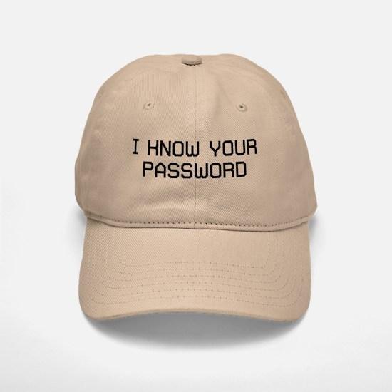I Password Baseball Baseball Cap