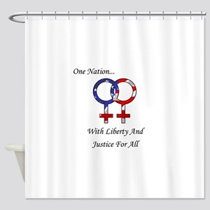 One Nation Lesbian Shower Curtain