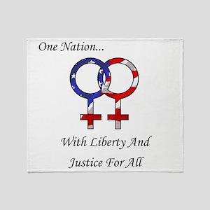 One Nation Lesbian Throw Blanket