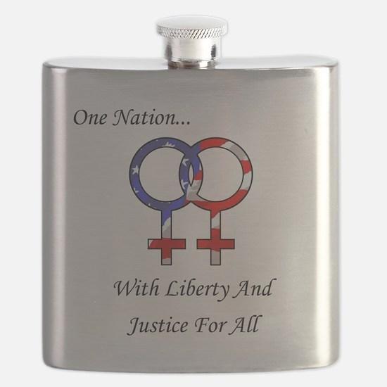 One Nation Lesbian Flask