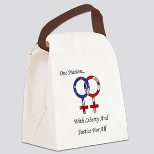 One Nation Lesbian Canvas Lunch Bag