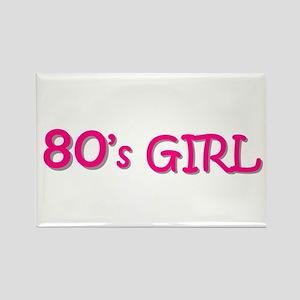 80's Girl Rectangle Magnet
