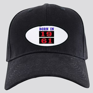 Born In 1961 Black Cap with Patch