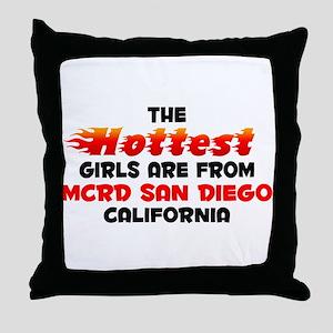 Hot Girls: MCRD San Die, CA Throw Pillow