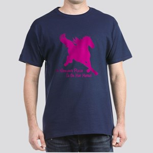 Woman's Place Is On Her Horse Dark T-Shirt